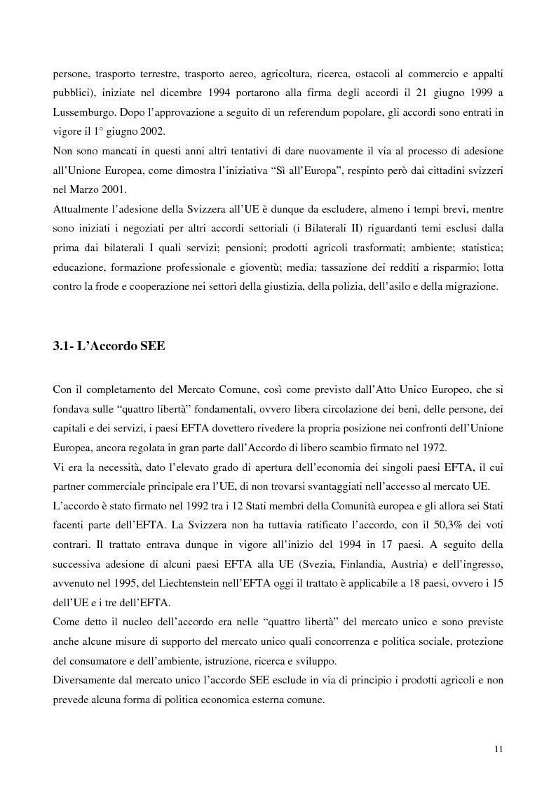 Anteprima della tesi: Relazioni economiche Svizzera-EU: le conseguenze dell'adozione dell'Euro, Pagina 11