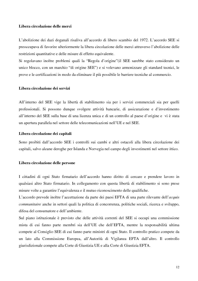 Anteprima della tesi: Relazioni economiche Svizzera-EU: le conseguenze dell'adozione dell'Euro, Pagina 12