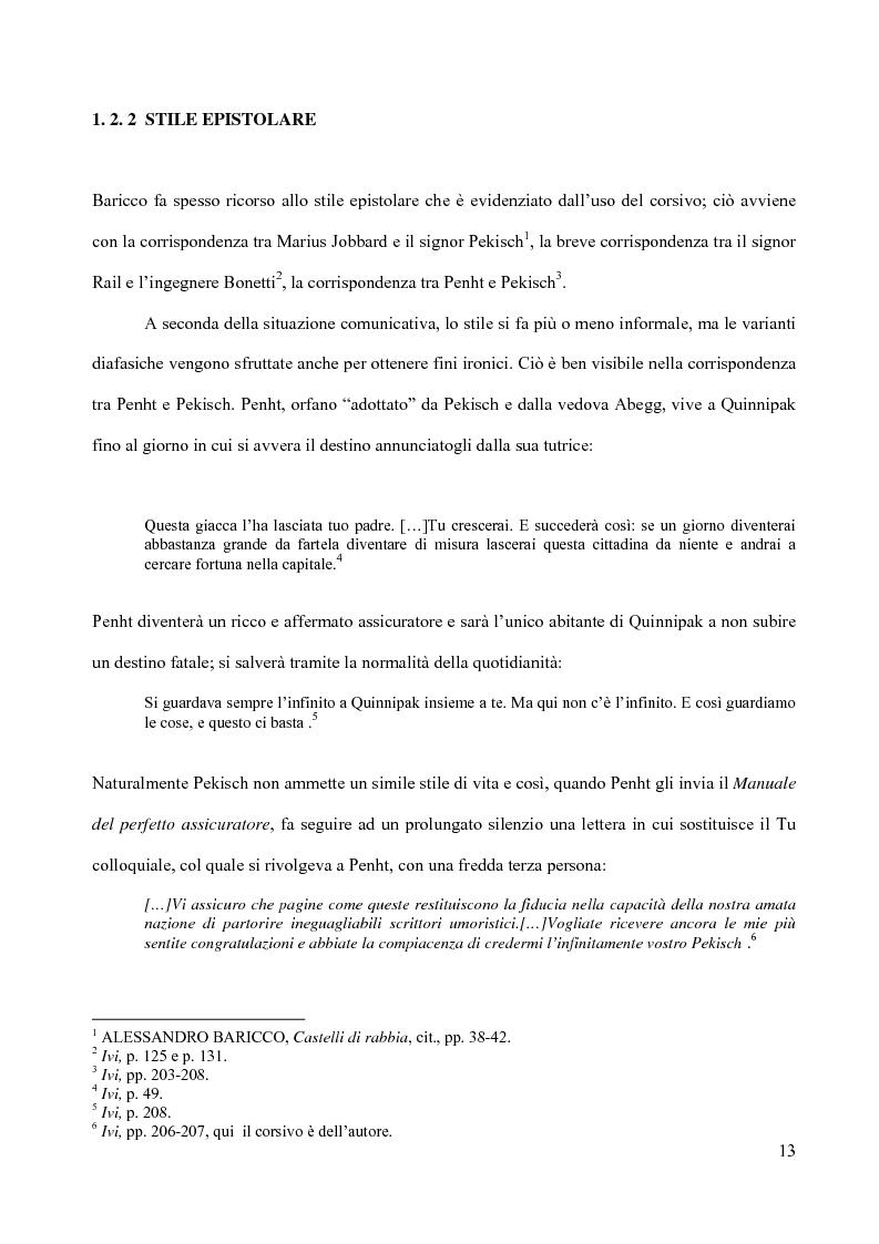 Anteprima della tesi: Il piacere della lettura: evocazioni letterarie e vocazione musicale. La narrativa di Alessandro Baricco, Pagina 13