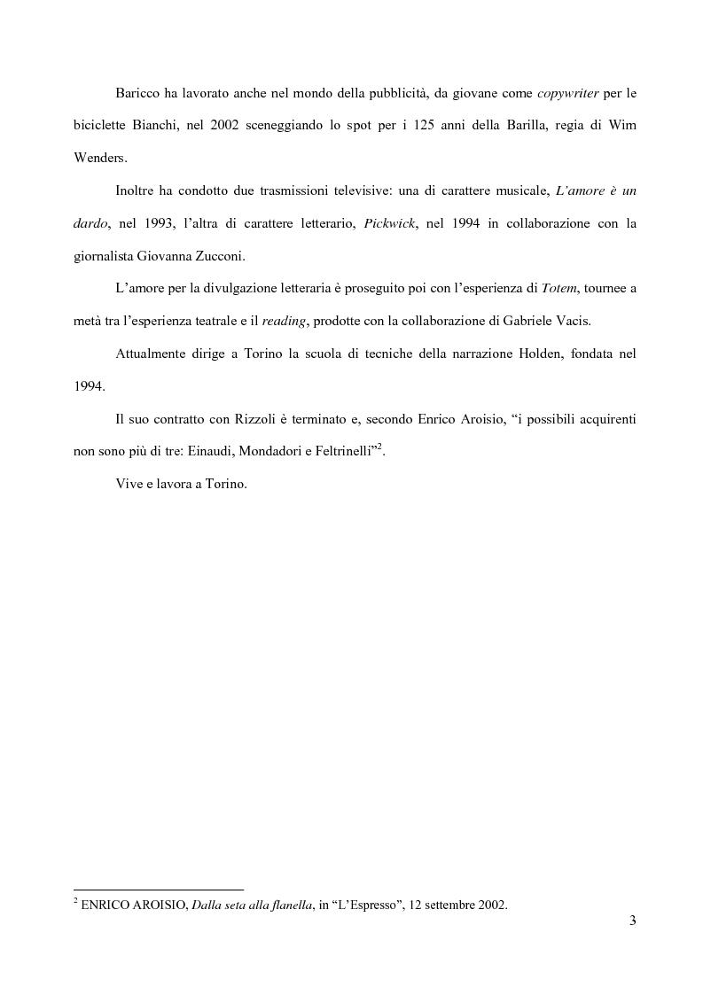 Anteprima della tesi: Il piacere della lettura: evocazioni letterarie e vocazione musicale. La narrativa di Alessandro Baricco, Pagina 3