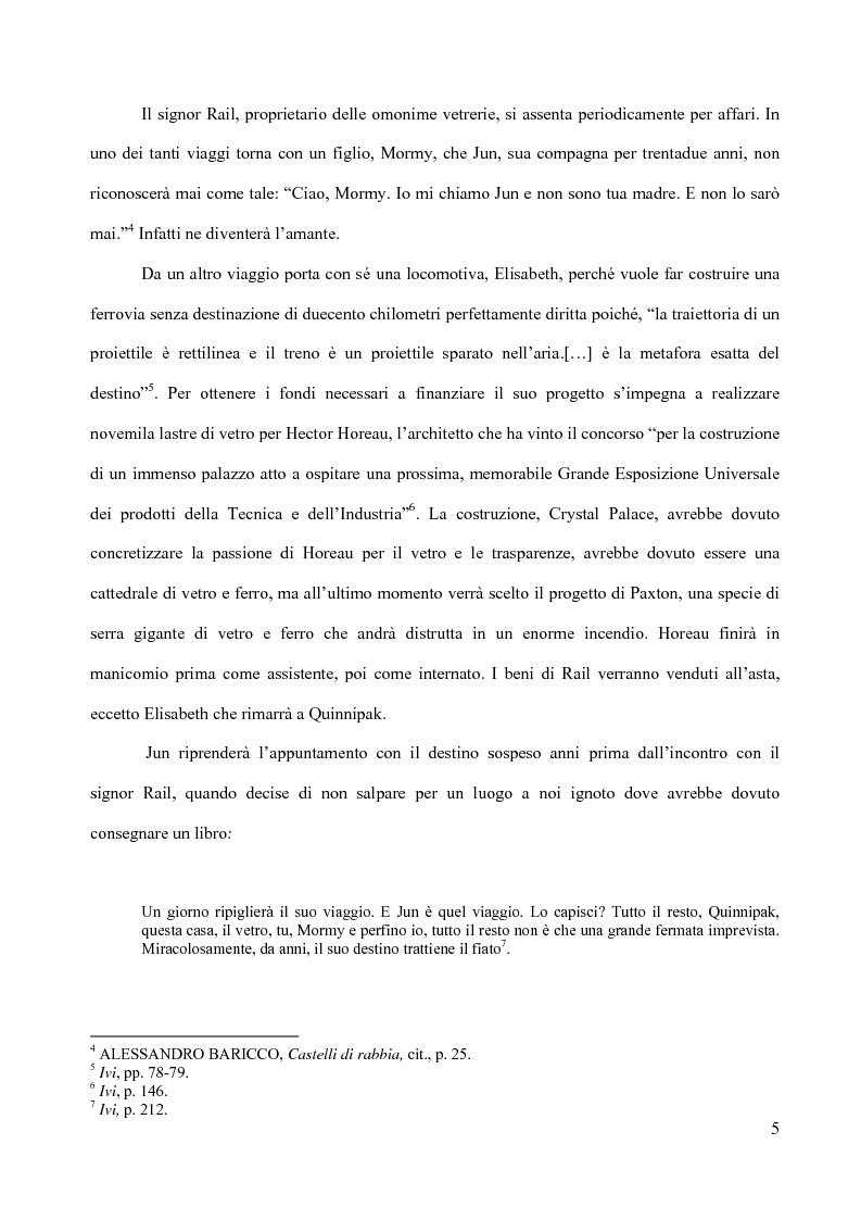 Anteprima della tesi: Il piacere della lettura: evocazioni letterarie e vocazione musicale. La narrativa di Alessandro Baricco, Pagina 5