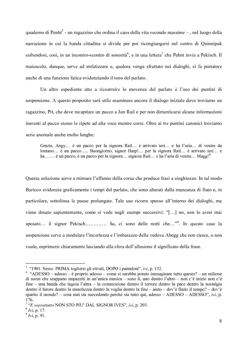 Anteprima della tesi: Il piacere della lettura: evocazioni letterarie e vocazione musicale. La narrativa di Alessandro Baricco, Pagina 8