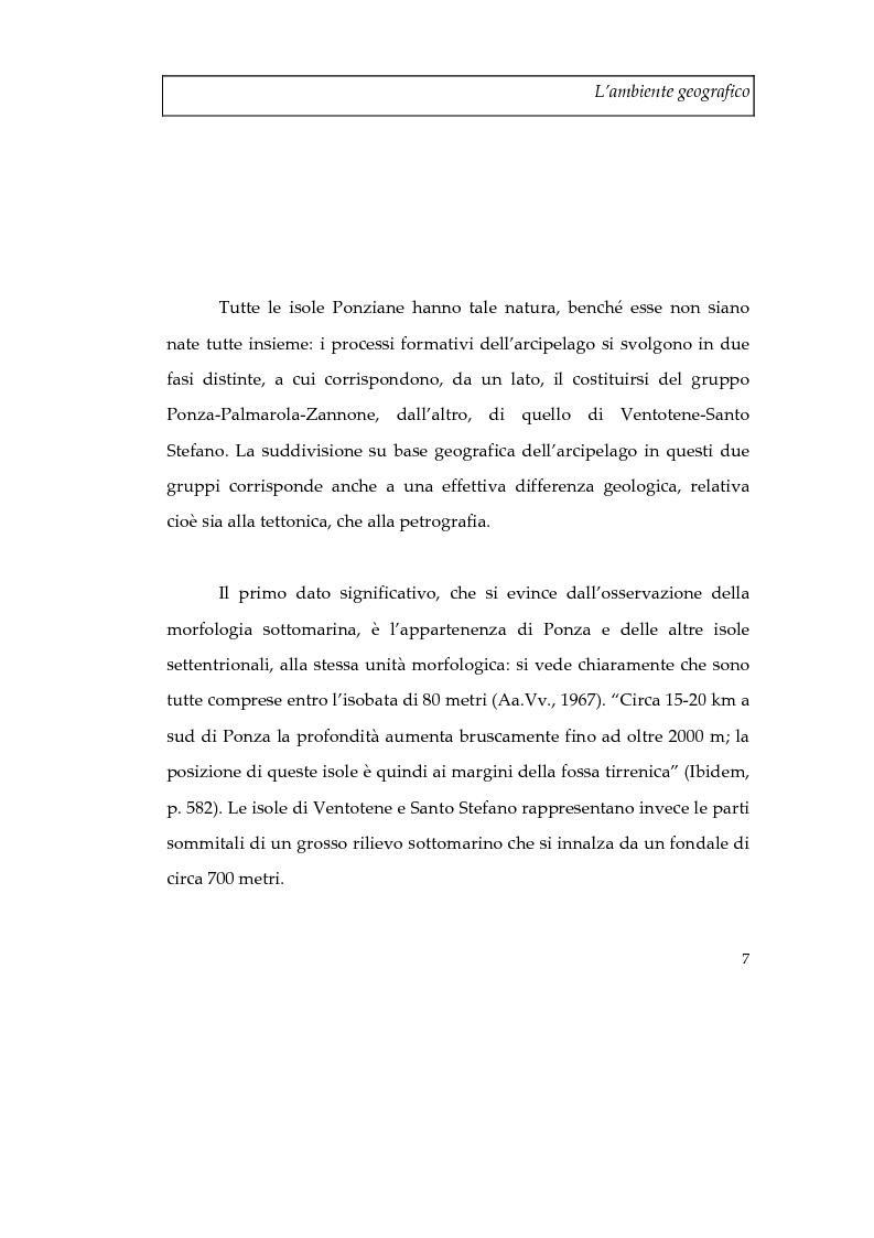 Anteprima della tesi: Memorie d'isola. Abitanti, turisti e confinati a Ponza., Pagina 12
