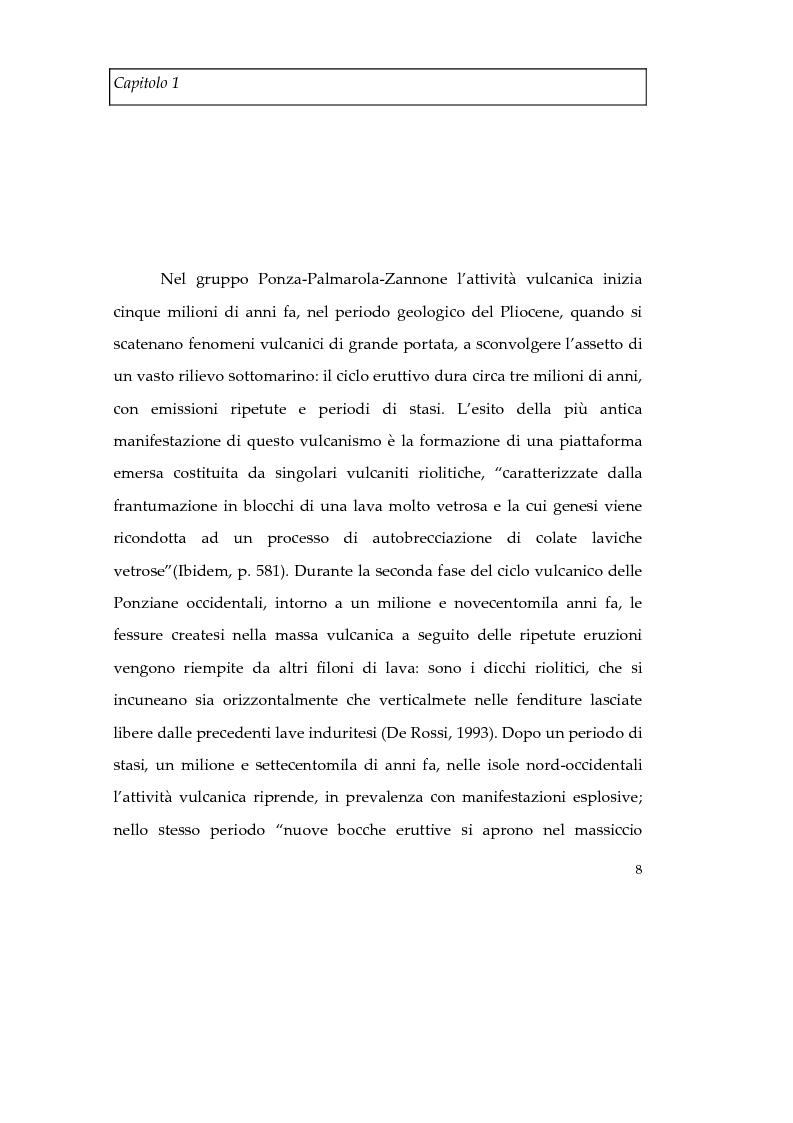 Anteprima della tesi: Memorie d'isola. Abitanti, turisti e confinati a Ponza., Pagina 13