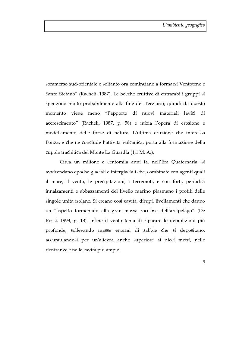 Anteprima della tesi: Memorie d'isola. Abitanti, turisti e confinati a Ponza., Pagina 14