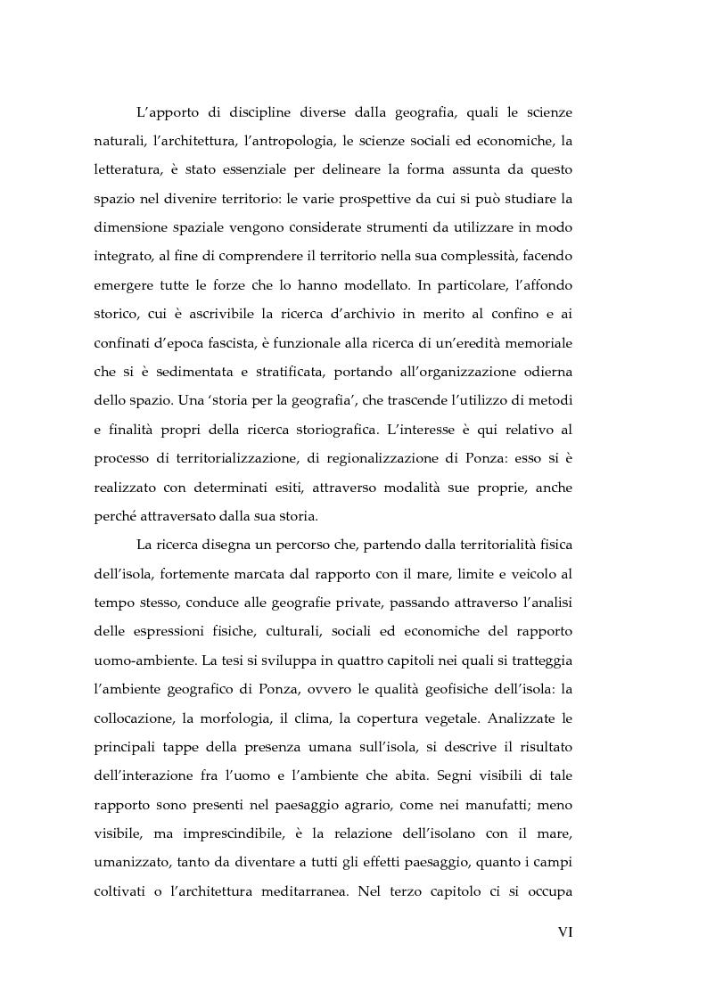 Anteprima della tesi: Memorie d'isola. Abitanti, turisti e confinati a Ponza., Pagina 4