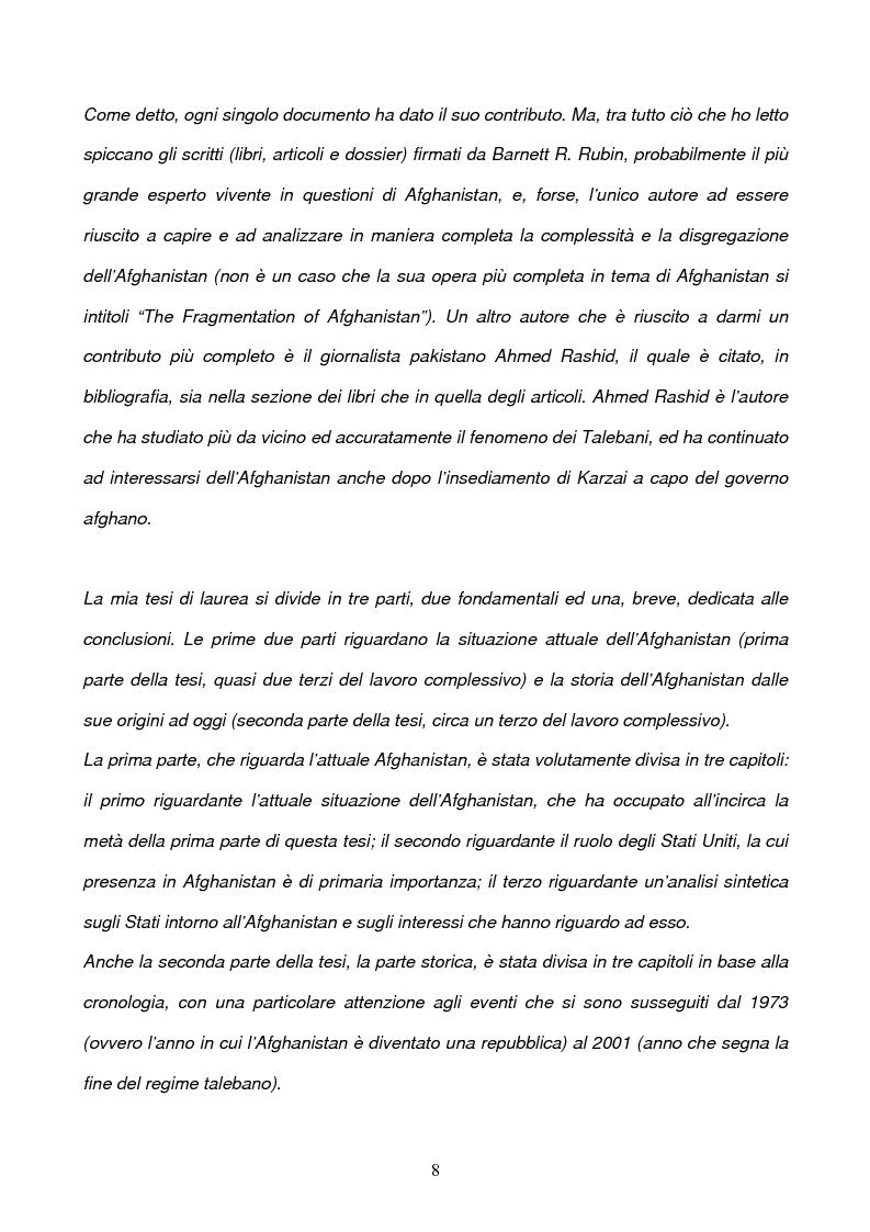 Anteprima della tesi: L'Afghanistan dopo la caduta dei Talebani, Pagina 4