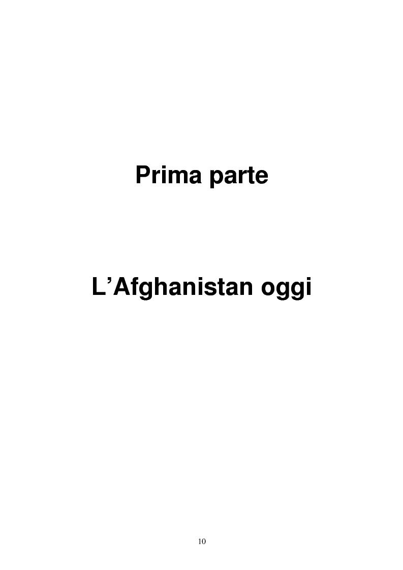 Anteprima della tesi: L'Afghanistan dopo la caduta dei Talebani, Pagina 6