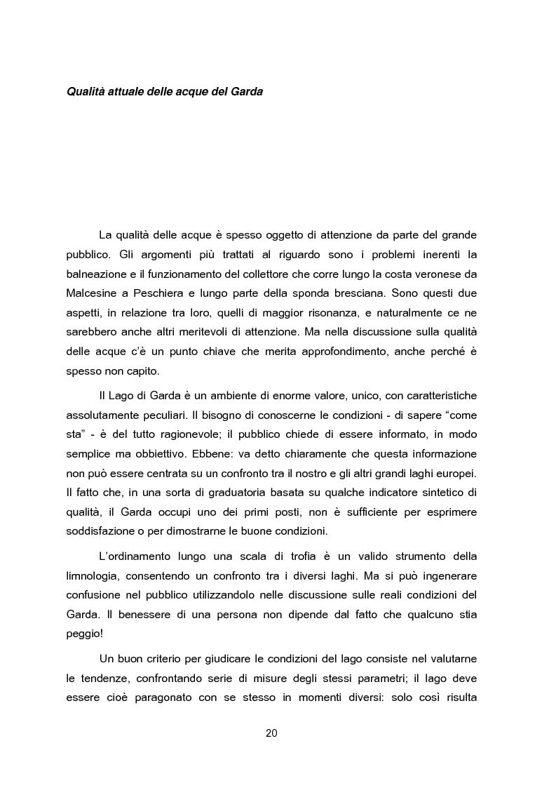 Anteprima della tesi: Impianti di collettamento e depurazione del Lago di Garda - Aspetti tecnici, economici e ambientali, Pagina 15