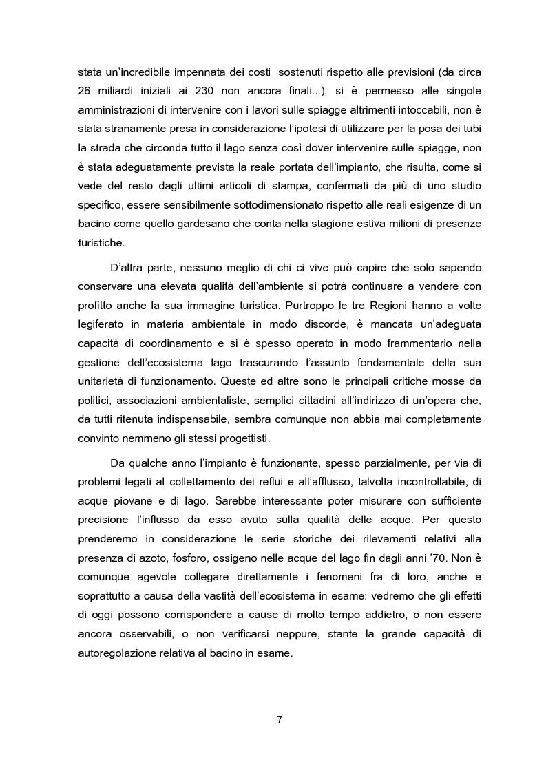 Anteprima della tesi: Impianti di collettamento e depurazione del Lago di Garda - Aspetti tecnici, economici e ambientali, Pagina 2