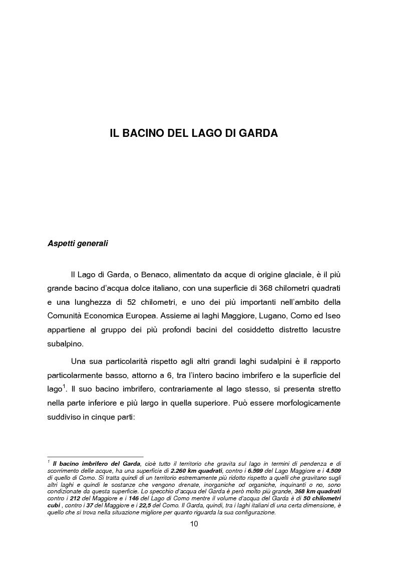 Anteprima della tesi: Impianti di collettamento e depurazione del Lago di Garda - Aspetti tecnici, economici e ambientali, Pagina 5