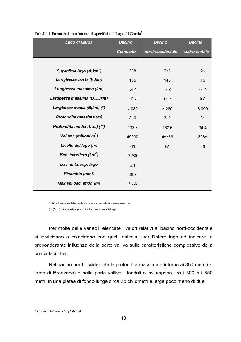 Anteprima della tesi: Impianti di collettamento e depurazione del Lago di Garda - Aspetti tecnici, economici e ambientali, Pagina 8