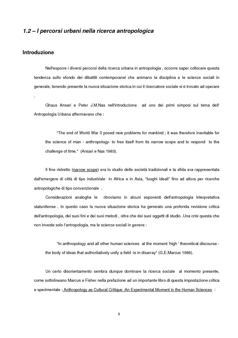 Anteprima della tesi: Antropologia Urbana e delle Società Complesse. Nuovi percorsi della ricerca antropologica contemporanea. Etnicità e razzismo nell'Inner City di Londra., Pagina 5