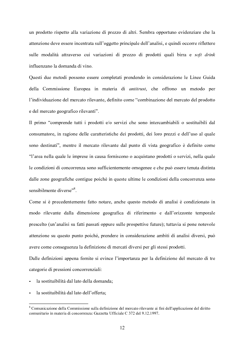 Anteprima della tesi: Strategia d'impresa e analisi di settore: il caso Michele Chiarlo S.r.l., Pagina 12