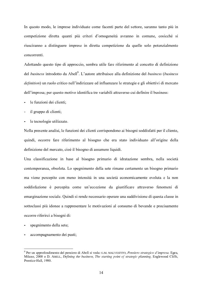 Anteprima della tesi: Strategia d'impresa e analisi di settore: il caso Michele Chiarlo S.r.l., Pagina 14