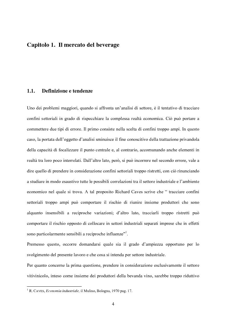 Anteprima della tesi: Strategia d'impresa e analisi di settore: il caso Michele Chiarlo S.r.l., Pagina 4