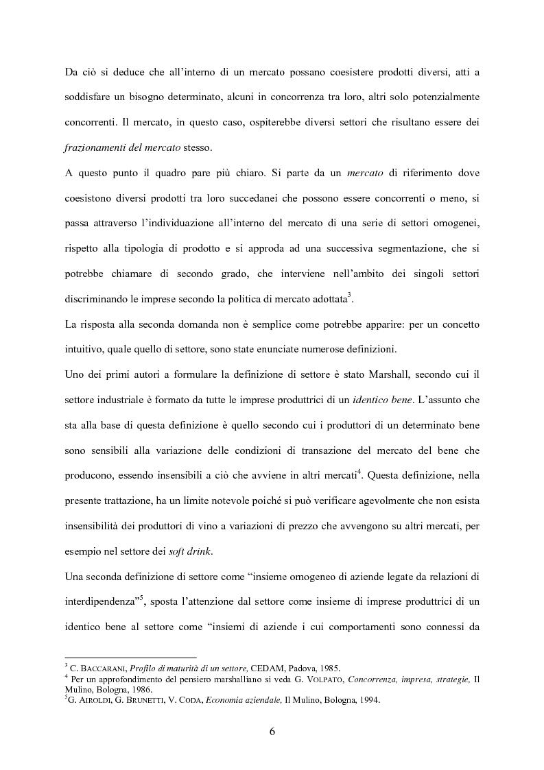 Anteprima della tesi: Strategia d'impresa e analisi di settore: il caso Michele Chiarlo S.r.l., Pagina 6