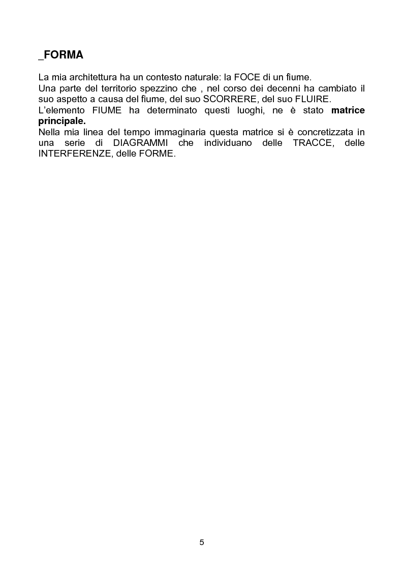 """Anteprima della tesi: Yacht Club e Centro Velico """"Lunae"""", Pagina 1"""