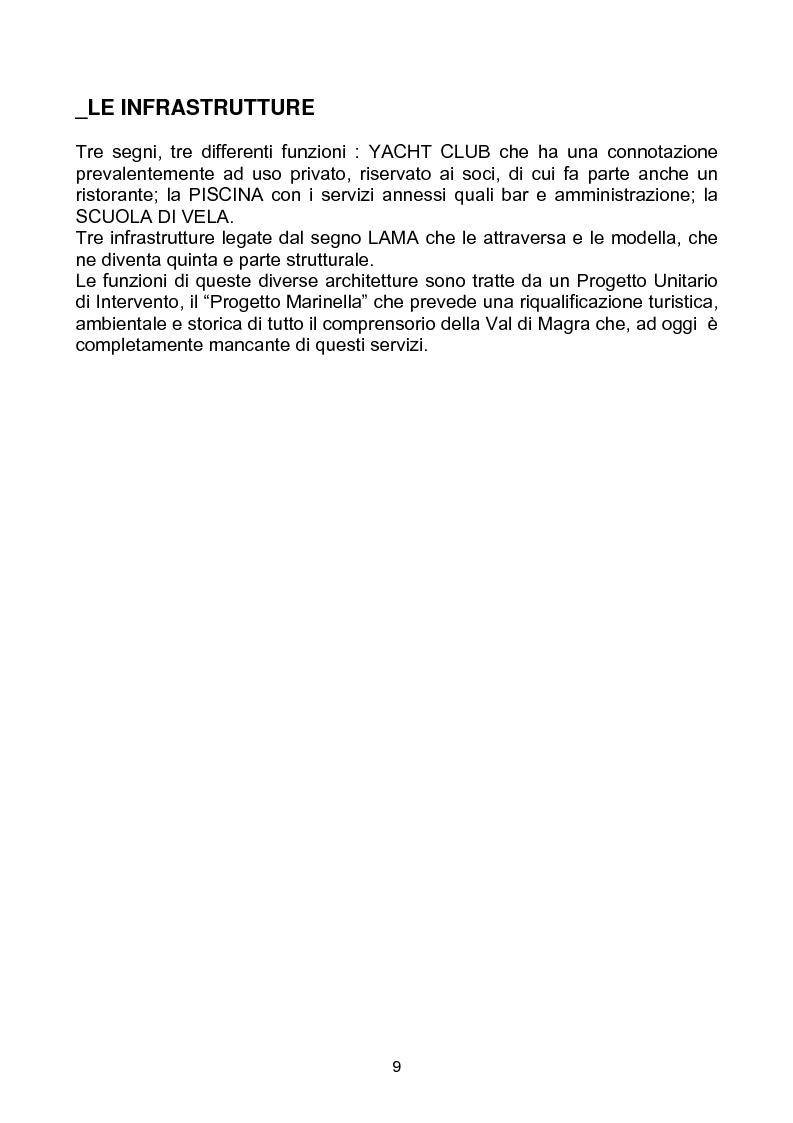 """Anteprima della tesi: Yacht Club e Centro Velico """"Lunae"""", Pagina 5"""