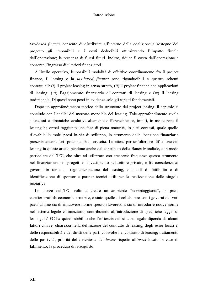 Anteprima della tesi: Il Project finance nei paesi in via di sviluppo, Pagina 10