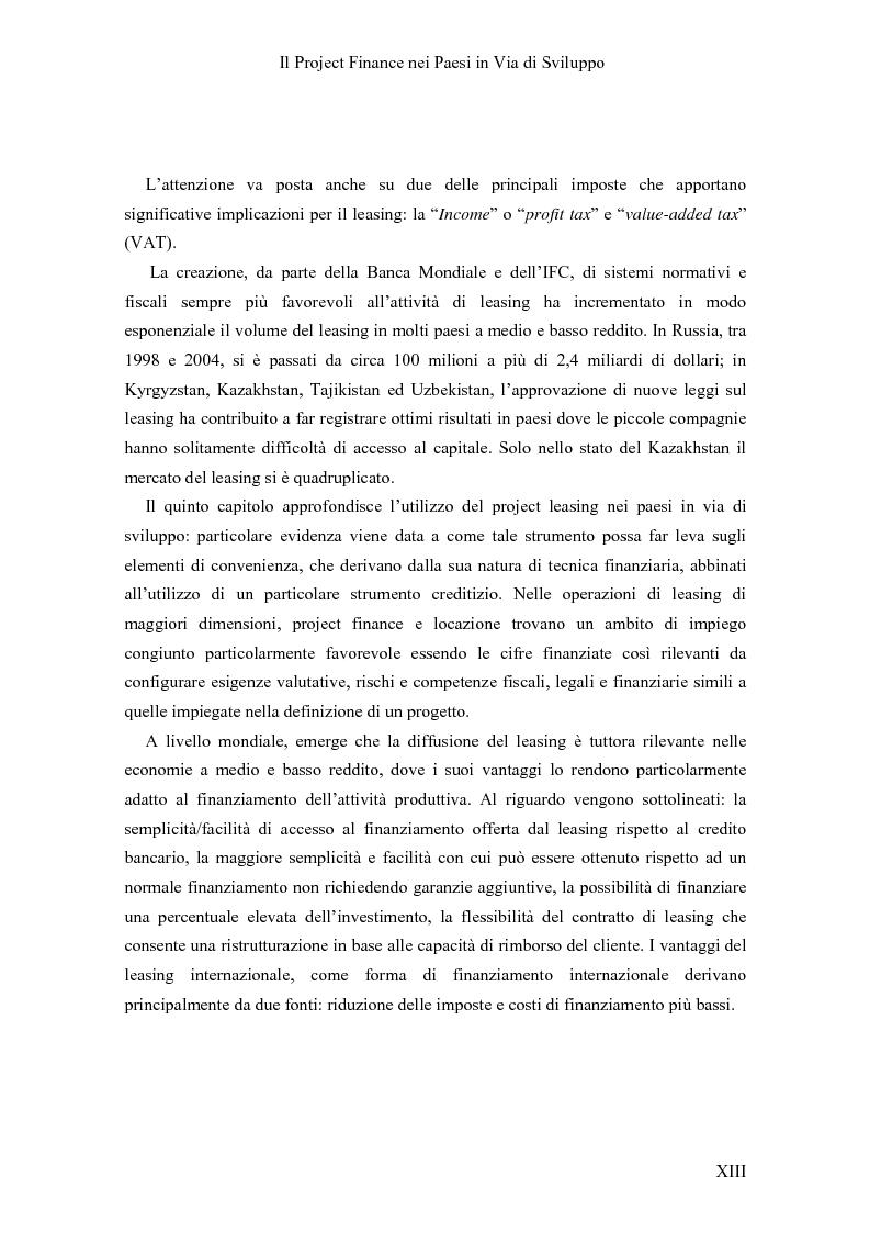 Anteprima della tesi: Il Project finance nei paesi in via di sviluppo, Pagina 11