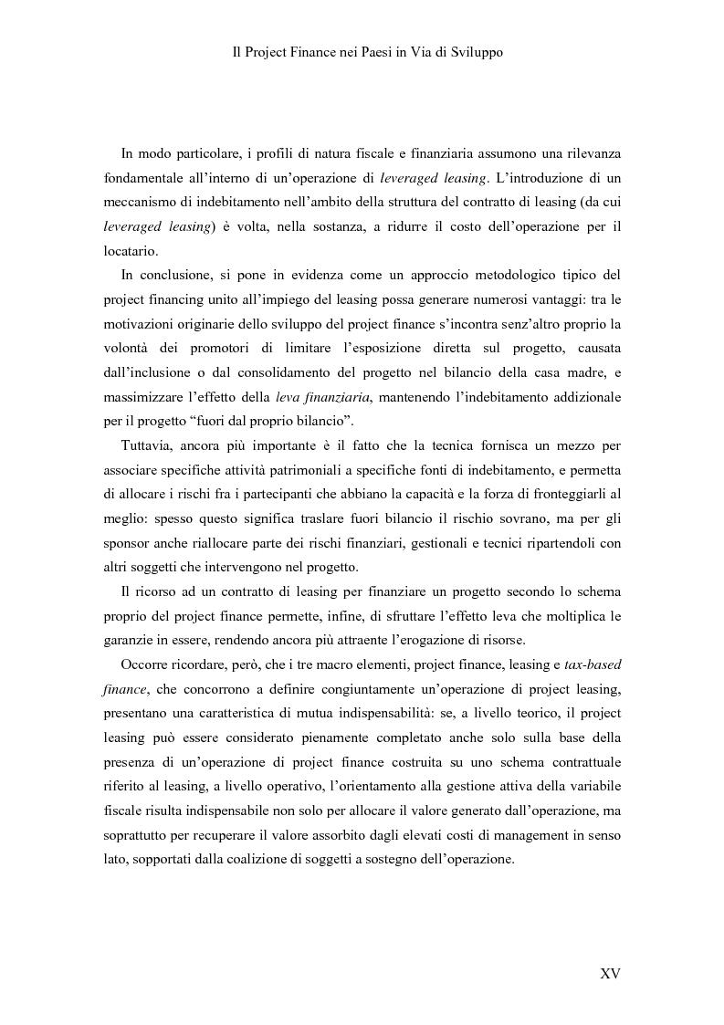 Anteprima della tesi: Il Project finance nei paesi in via di sviluppo, Pagina 13