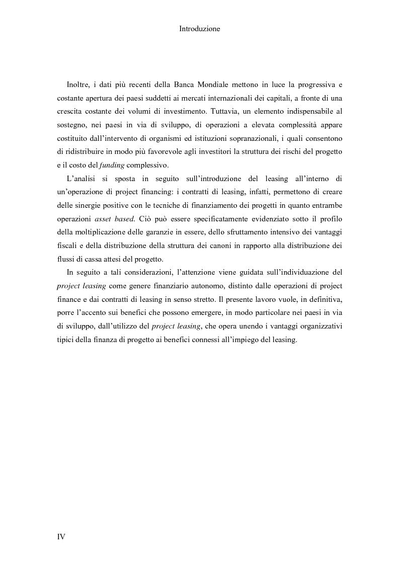 Anteprima della tesi: Il Project finance nei paesi in via di sviluppo, Pagina 2