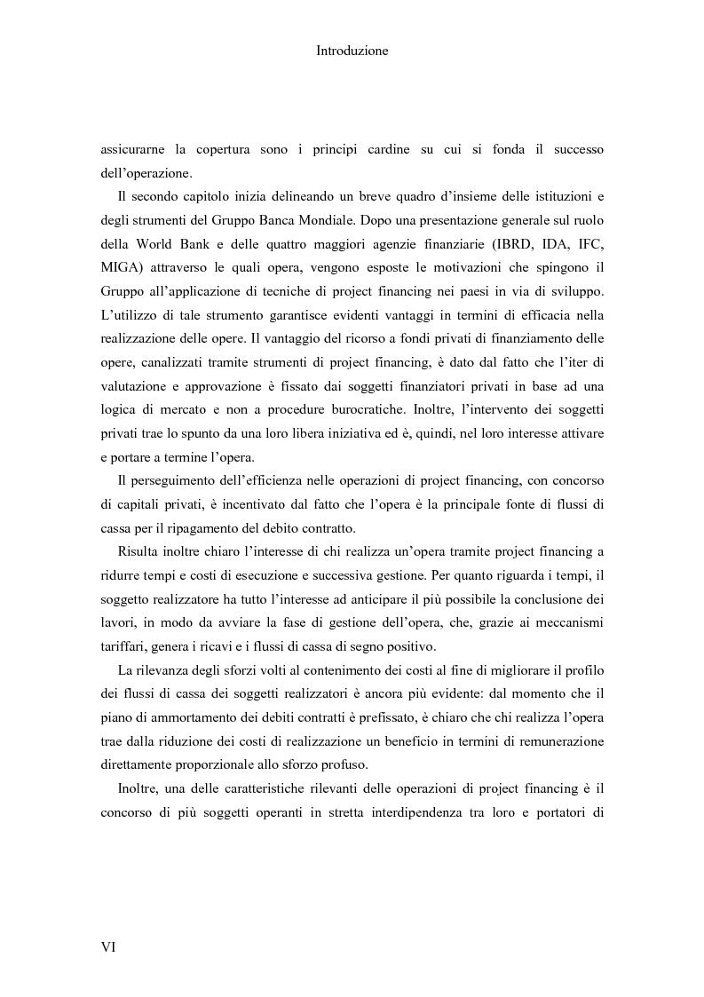 Anteprima della tesi: Il Project finance nei paesi in via di sviluppo, Pagina 4