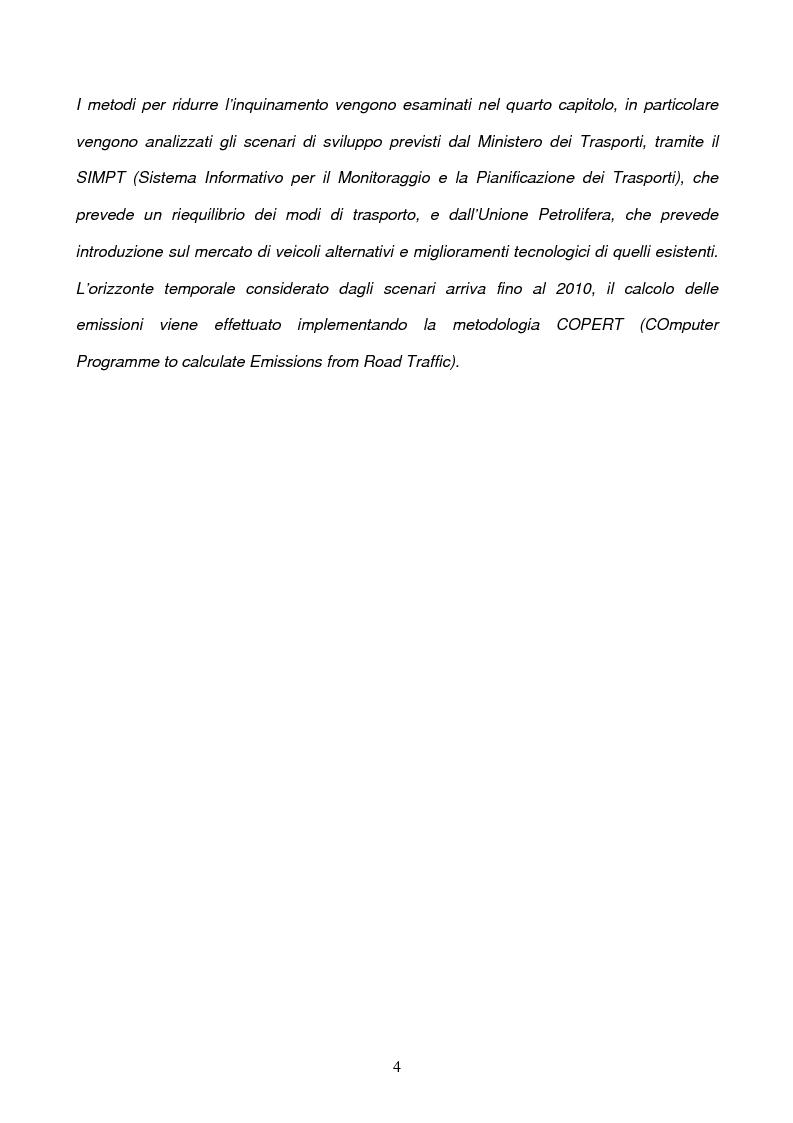 Anteprima della tesi: Problematiche ambientali dei sistemi di trasporto, Pagina 2