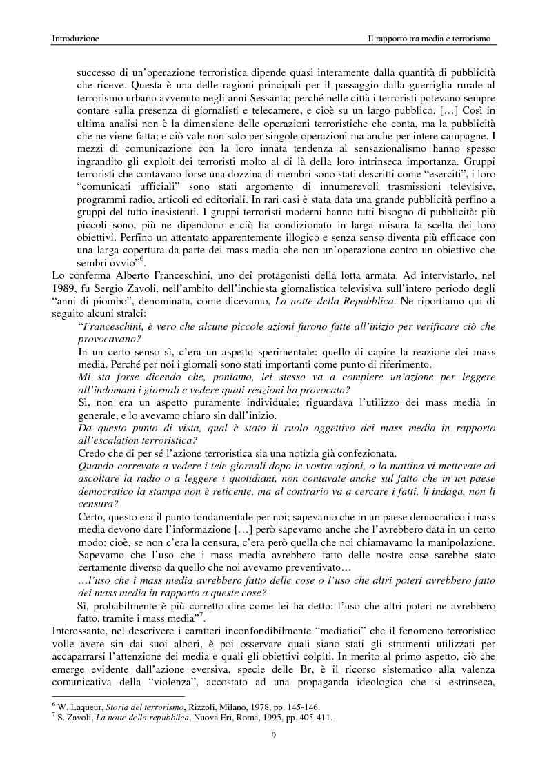 Anteprima della tesi: Quando i media staccano la spina. Storia del blackout informativo durante gli ''anni di piombo'', Pagina 4