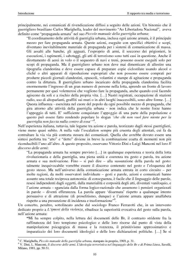 Anteprima della tesi: Quando i media staccano la spina. Storia del blackout informativo durante gli ''anni di piombo'', Pagina 5