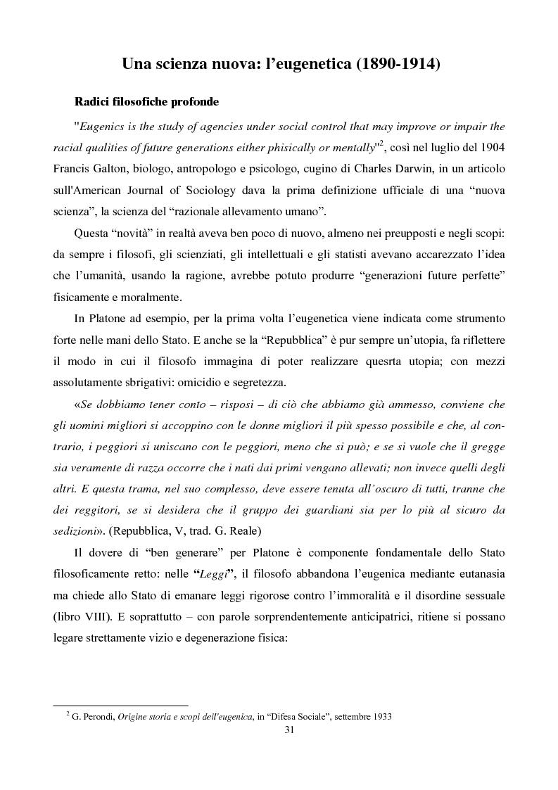 Anteprima della tesi: Eugenetica e politica nella prima metà del XX secolo, Pagina 3