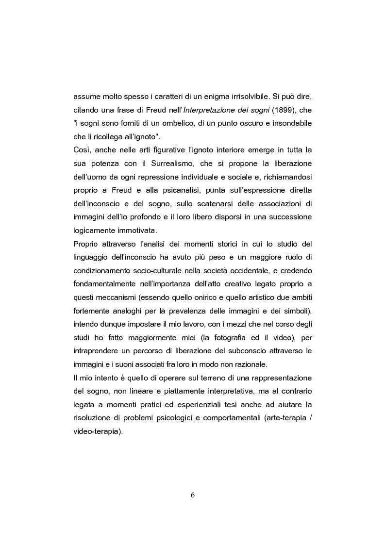 Anteprima della tesi: L'egemonia del sogno-l'importanza del mondo onirico nell'immaginario individuale e collettivo, Pagina 4
