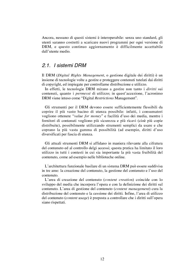 Anteprima della tesi: Gestione digitale dei diritti sulle proprietà intellettuali: la vendita di musica online, Pagina 6