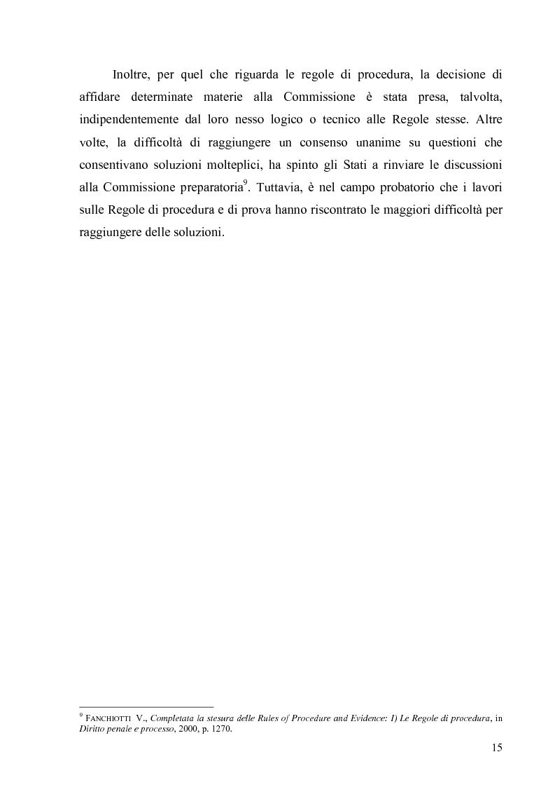 Anteprima della tesi: La Commissione preparatoria della Corte penale internazionale, Pagina 13