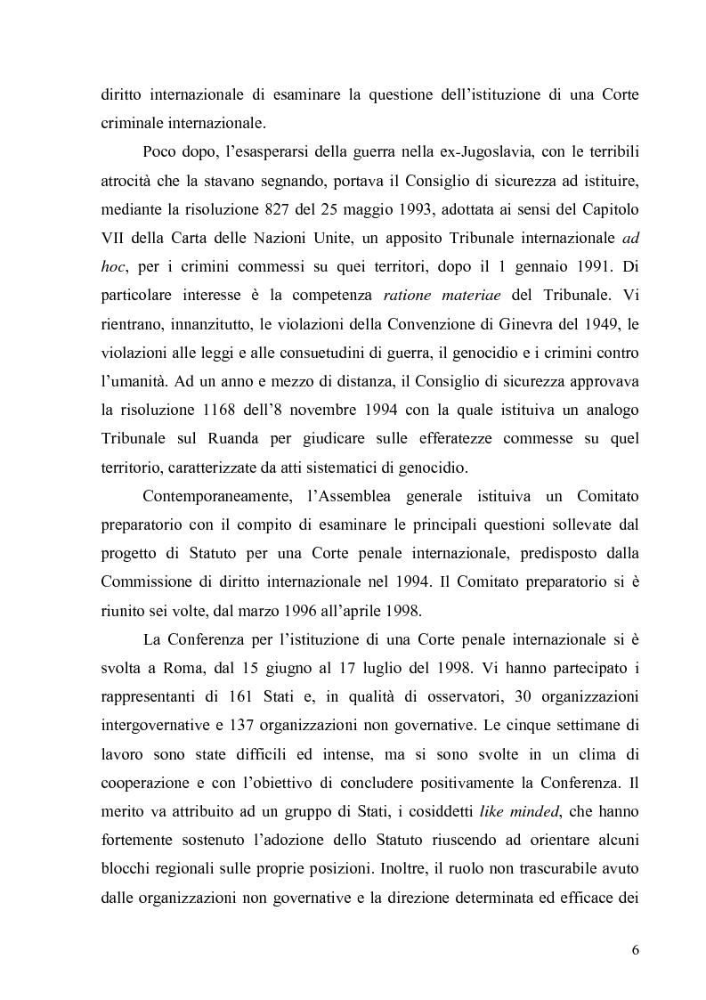 Anteprima della tesi: La Commissione preparatoria della Corte penale internazionale, Pagina 4