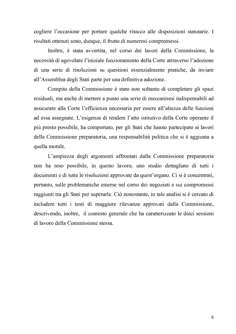 Anteprima della tesi: La Commissione preparatoria della Corte penale internazionale, Pagina 6