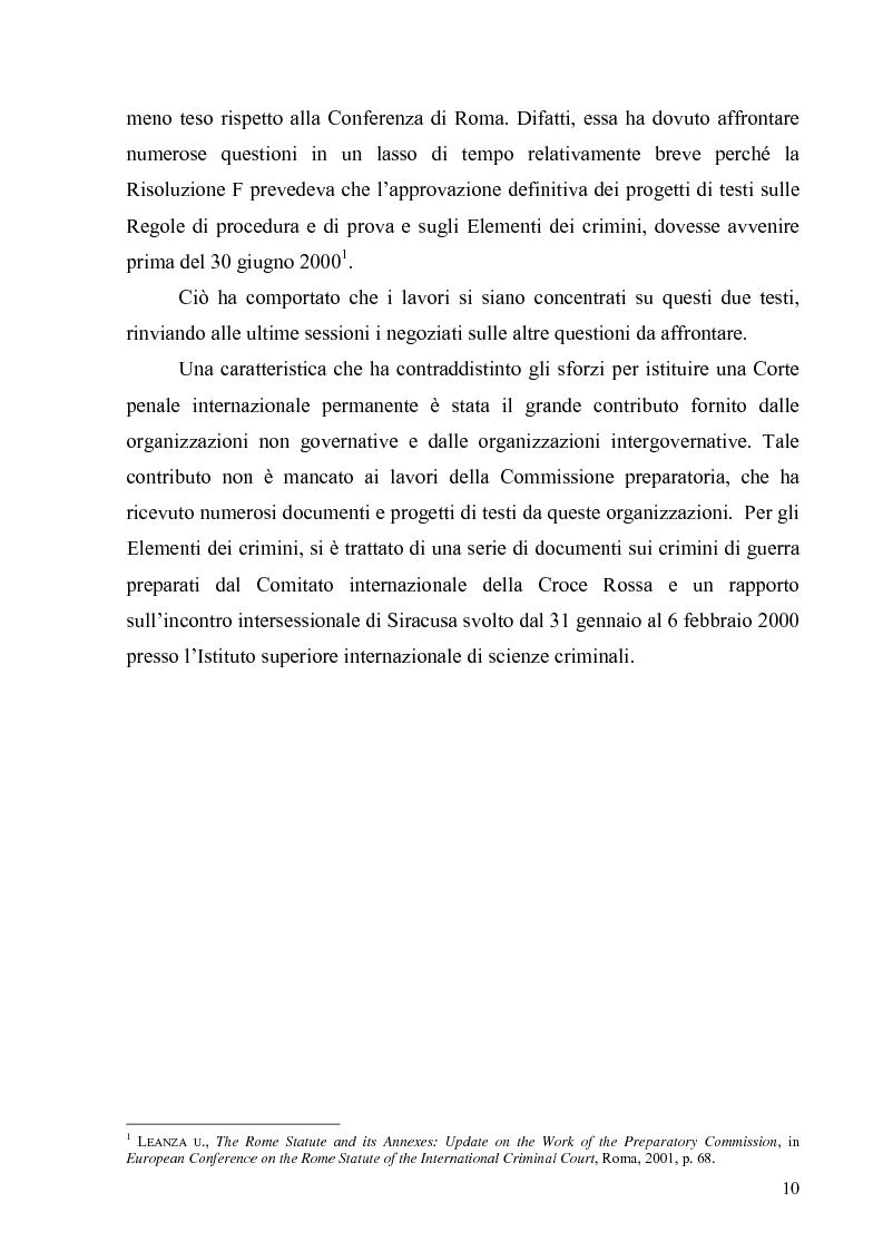 Anteprima della tesi: La Commissione preparatoria della Corte penale internazionale, Pagina 8