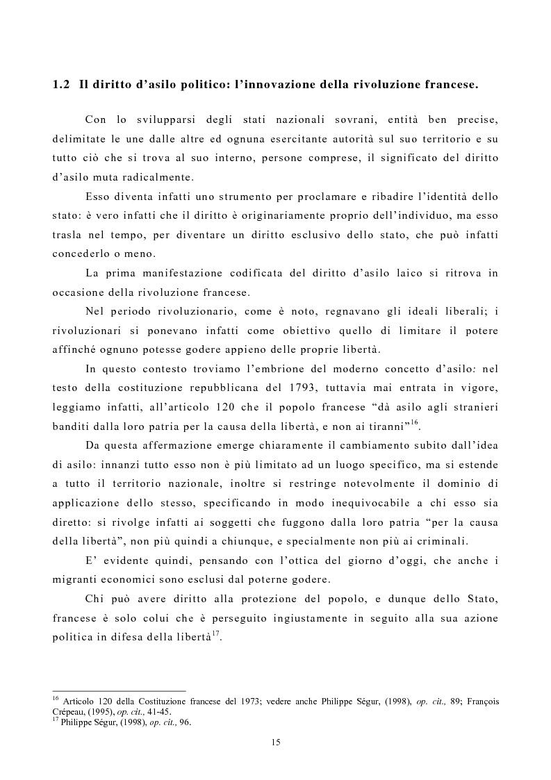 Anteprima della tesi: Lo Status di Rifugiato nell'Unione Europea, Pagina 10