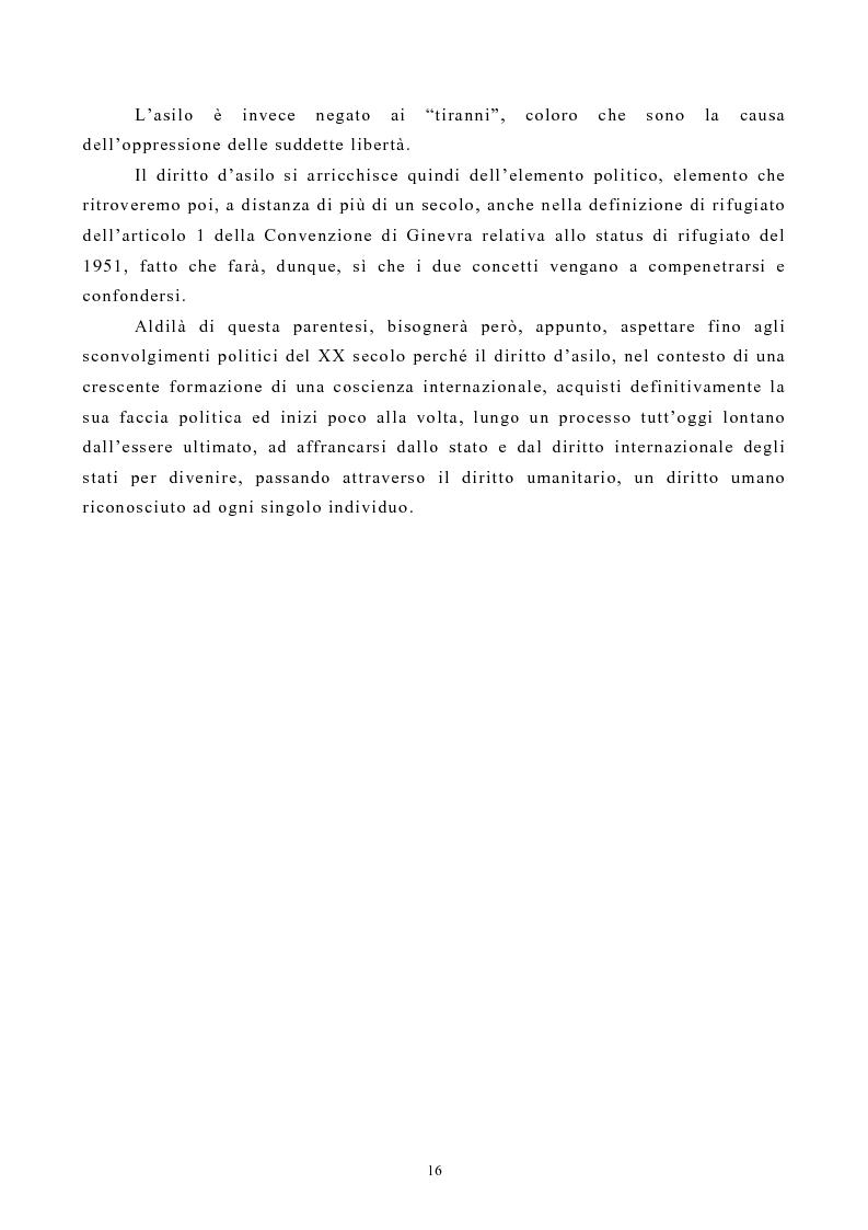 Anteprima della tesi: Lo Status di Rifugiato nell'Unione Europea, Pagina 11
