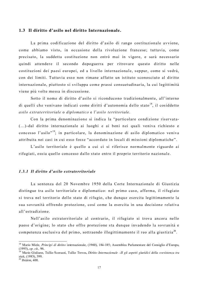 Anteprima della tesi: Lo Status di Rifugiato nell'Unione Europea, Pagina 12