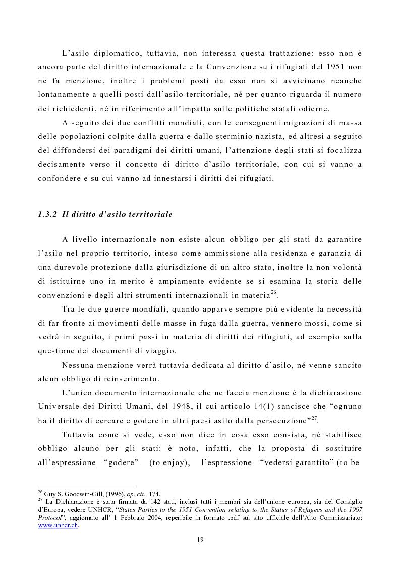 Anteprima della tesi: Lo Status di Rifugiato nell'Unione Europea, Pagina 14