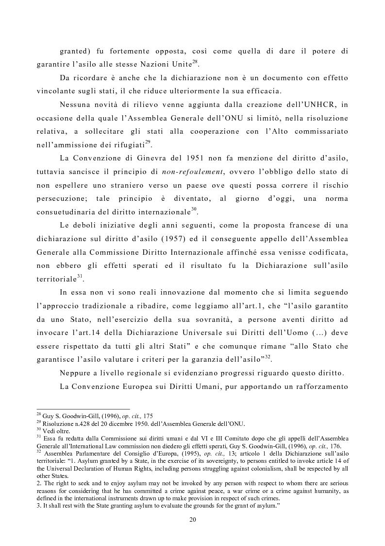 Anteprima della tesi: Lo Status di Rifugiato nell'Unione Europea, Pagina 15