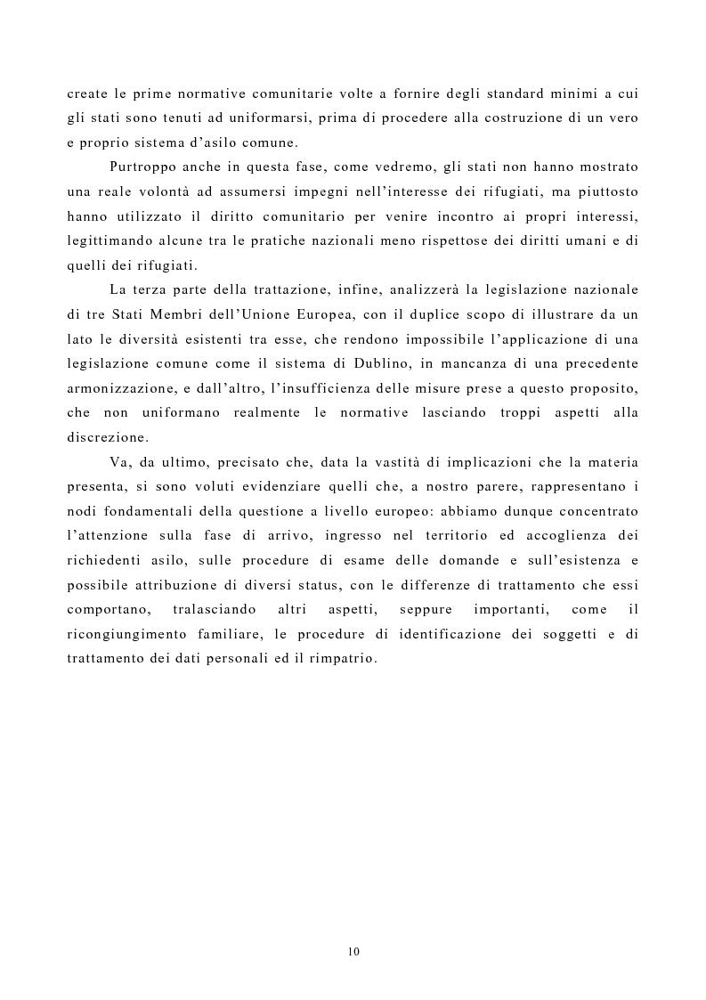 Anteprima della tesi: Lo Status di Rifugiato nell'Unione Europea, Pagina 5