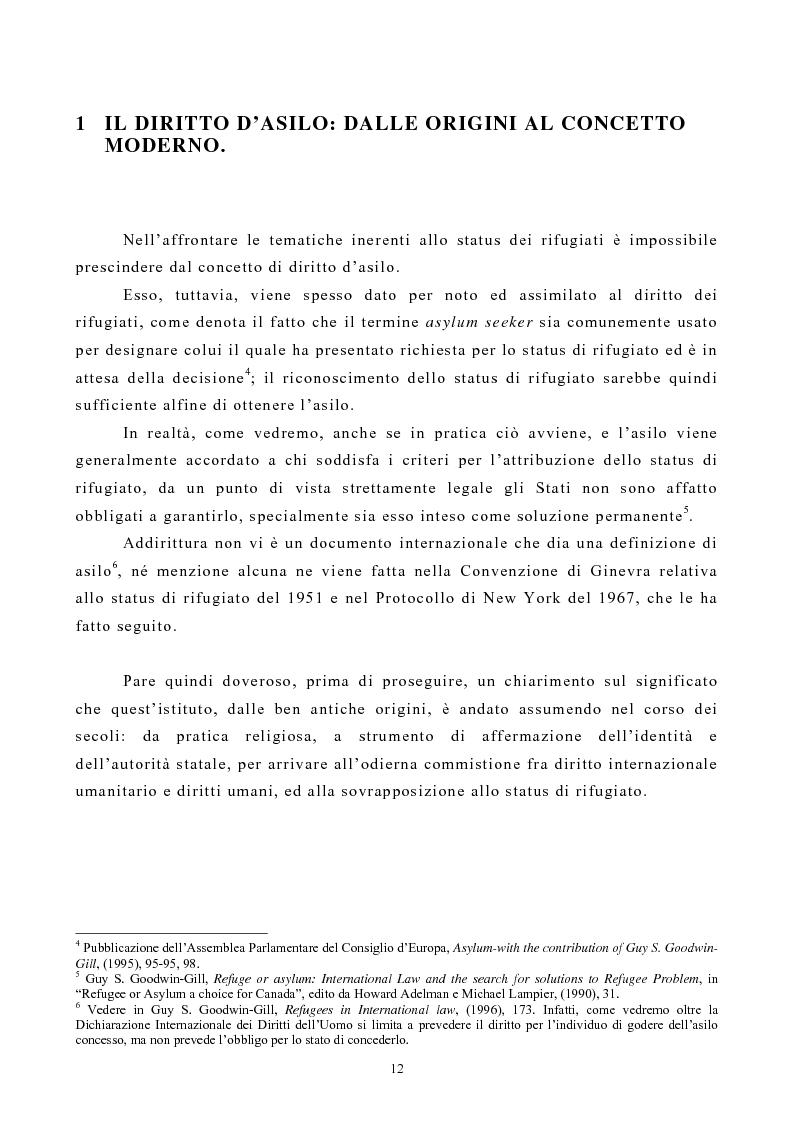 Anteprima della tesi: Lo Status di Rifugiato nell'Unione Europea, Pagina 7