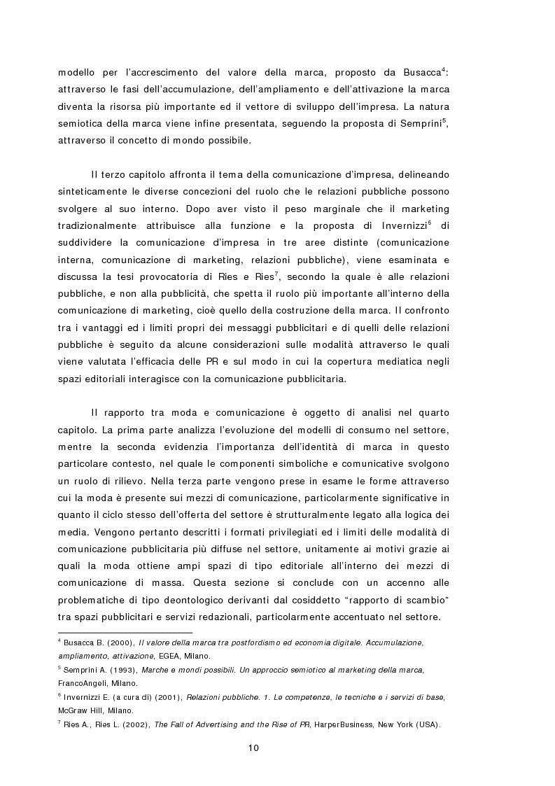 Anteprima della tesi: Relazioni pubbliche e vantaggio competitivo. I casi Diesel e Benetton, Pagina 3