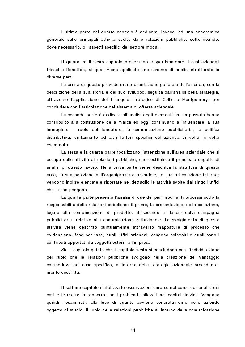 Anteprima della tesi: Relazioni pubbliche e vantaggio competitivo. I casi Diesel e Benetton, Pagina 4