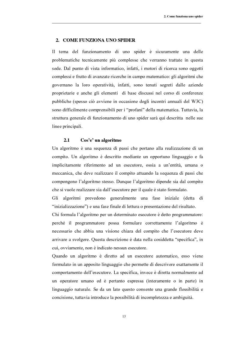 Anteprima della tesi: Posizionamento sui Motori di Ricerca: ''opinione del web'' e strumento di marketing, Pagina 10