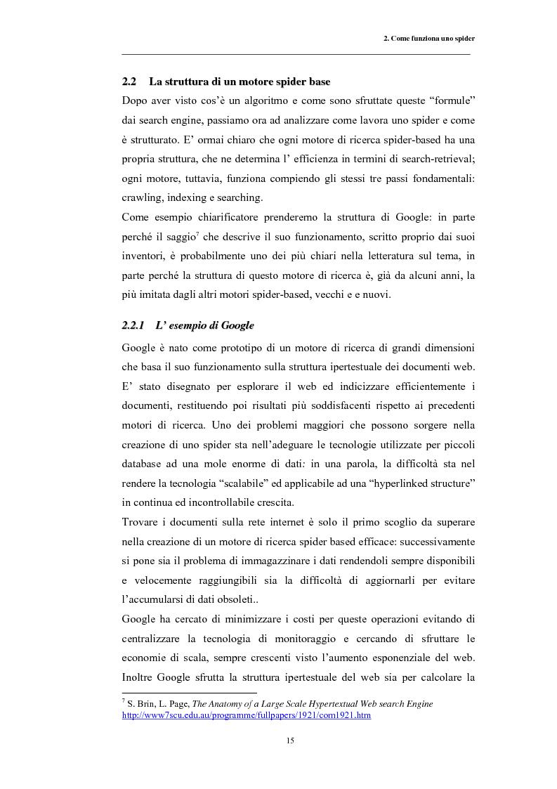 Anteprima della tesi: Posizionamento sui Motori di Ricerca: ''opinione del web'' e strumento di marketing, Pagina 12
