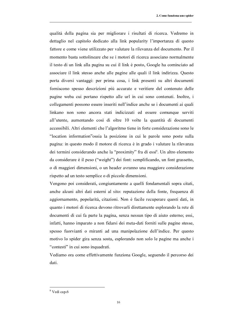Anteprima della tesi: Posizionamento sui Motori di Ricerca: ''opinione del web'' e strumento di marketing, Pagina 13